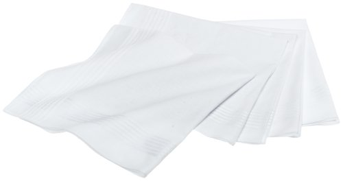 Nautica Men's 5 Piece Solid Handkerchief Gift Set,White,One Size