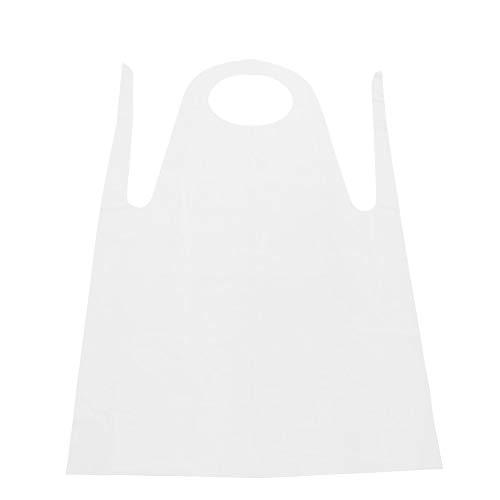 Szlsl88 100 Piezas Desechable Delantales, Pe Delantal Adulto, Unisex Plástico Delantales para Adultos Pintura Limpieza de Cocina