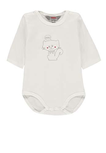 Kanz Unisex Baby 1/1 Arm Formender Body, Weiß (Snow White White 1050), (Herstellergröße:...