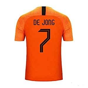 S&K Sports Trikot Frenkie Jong Niederlande Home Orange 2019/20 für Herren und Kinder, Orange, Herren XL