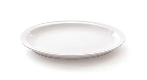 Berghoff en Porcelaine vitrifiée Assiette Ovale, Blanc, 25 cm