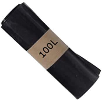 SAC POUBELLE NOIR HAUTE RESISTANCE - 100 litres - carton de 200 sacs poubelles