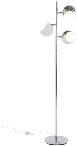 Kare 69841 Standleuchte Calotta Chrome, moderne Stehlampen im Retro Design, silber (H/B/T) 151x40x25,5cm