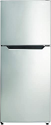 10.1 Cu.Ft. Top Mount Freezer, Energy-Star Rated Apartment Refrigerator with Smudge Free Stainless Look