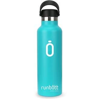 Runbott - Borraccia in acciaio inox, senza BPA, con rivestimento interno in ceramica, 600 ml, doppio strato sottovuoto. Senza gusto metallico. turchese