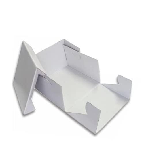 Azucren - Caja para Tartas, Pastel, Galletas - Caja Portátil Transporte Panadería - Extra Fuerte - Color Blanco - Extra Fuerte (25 x 25 x 15 CM)