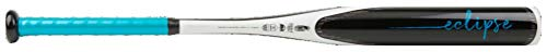 Rawlings 2020 Eclipse Fastpitch Softball Bat, 27 inch (-12), Black, White, Blue, Teal (FPZE12-27/15)