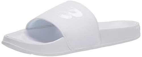 New Balance Men's 200 V1 Slide Sandal, White/White, 8