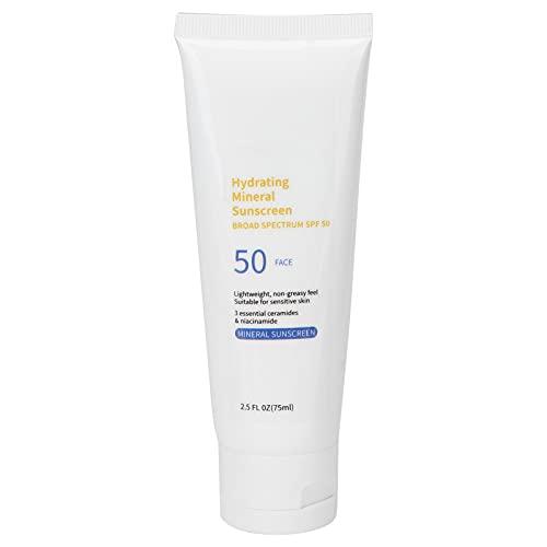 UV SPF50 + Loción De Protección Solar Facial, Crema De Protección Solar Para Protección Solar Facial Aislamiento, Crema Corporal De Hidratación Diaria Con Amida Neural