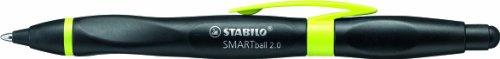 Kugelschreiber & Stylus für Tablets & Smartphones für Rechtshänder - STABILO SMARTball 2.0 in schwarz/kiwi - Schreibfarbe blau