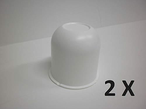 unbrand 2 - White Hub Center Cap 3.125 Trailer Camper Travel Truck Cover Rim Hubcap