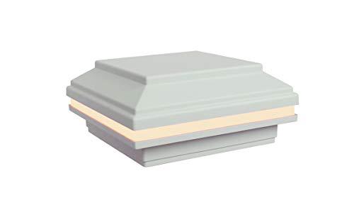 Tru-Post 4.5 inch x 4.5 inch LED Post Cap Light That fits a Trex Transcend Deck Post (White)