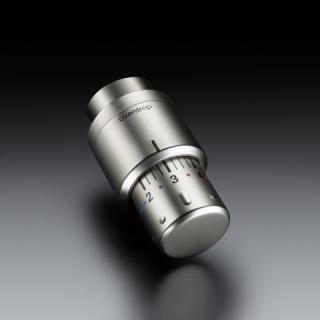 Oventrop - Thermostat Uni SH Edelstahl-Optikt, Anschluss 30 x 1,5 mit Nullstellung