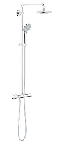 GROHE Euphoria System 180 E | Brausen & Duschsysteme - Duschsystem mit Thermostatbatterie für die Wandmontage  | chrom | 26418000