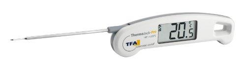 TFA Dostmann Thermo Jack Pro Digitales Einstichthermometer, Profi-Klappthermometer, abwaschnar, ideal für Lebensmittel,L 150 (260) x B 40 x H 19 mm
