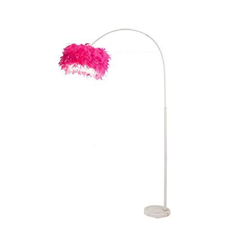 Lámpara de pie de pie con luces verticales ajustables para interiores – Lámpara de pie con forma de pluma para dormitorio, sala de estar, iluminación interior