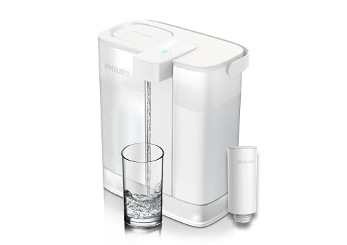 Philips Water Filter Pitcher Instant Water Filter - 3L Capacity, USB-C Rechargeable Pair Port