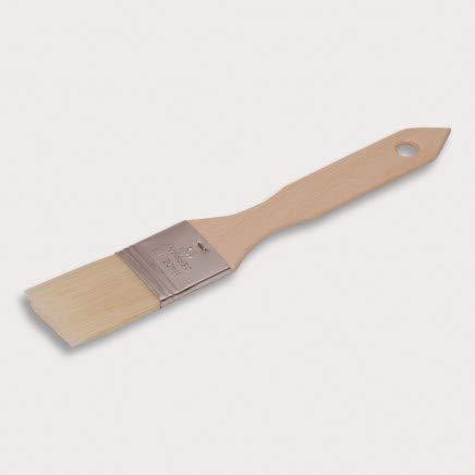 HOFMEISTER® Haushaltspinsel, flach, 21 x 3,6 cm, aus Buchenholz, Backpinsel mit Naturborste, 100% Made in Germany, Breite: 1,5 Zoll