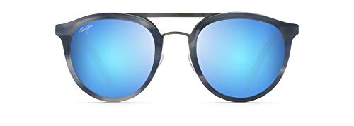 Occhiali da sole Maui Jim, (Corno blu/Blu Hawaii), Small
