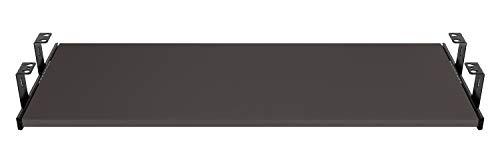 FIX&EASY Guide scorrevoli con ripiano 800X400mm texture dekoro antracite per porta-tastiera cassetto, staffa per binario scorrevole nero 400mm, estraibili per tastiera mouse e laptop