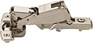Clip-On Hinge with 2 plates , Nickel-plated, 165degree, Full Overlay, Self Closing, With Dowel, Mod 13
