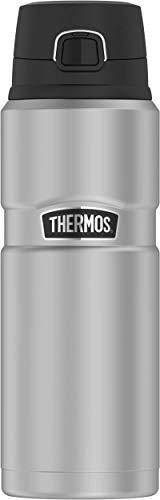 THERMOS Edelstahl-Thermosflasche 700ml Stainless King mattiert, Isolierflasche hält 15 Stunden heiß, 24 Stunden kalt, Trinkflasche absolut dicht, bruchfest, spülmaschinenfest, BPA-Frei, 4010.205.070