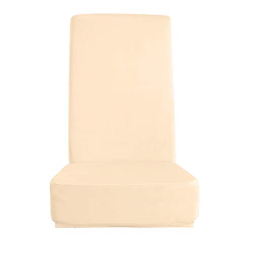 PETSOLA Stretch Dining Chair Schonbezüge Long Back Chair Covers - Champagner, Einheitsgröße