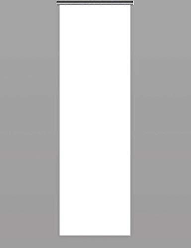 Schiebegardinen nach Maß Schiebevorhänge Maßanfertigung flächenvorhang schiebegardinen inklusive Laufwagen und Beschwerungsstange (H:110cm x B:60cm/Weiß)