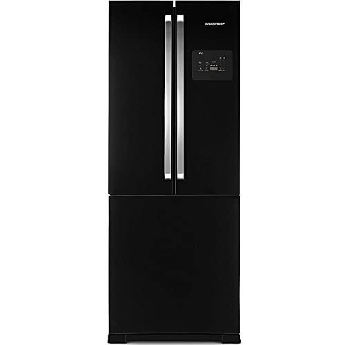 Geladeira Brastemp Frost Free Side Inverse 540 litros Preto com Ice Maker 110V