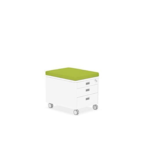 moll Sitzkissen Rollcontainer, Grün, 54 x 43 x 5 cm