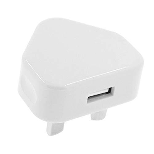 ZMW - Adaptador de enchufe USB de 3 pines, enchufe de pared, puertos USB para teléfonos móviles, tabletas, dispositivos cargables para viajes a casa (enchufe británico)