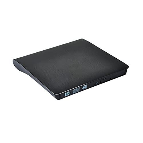 Moares Unidad De Disco CD-ROM USB 3.0 Delgado Externo DVD RW Grabadora De CD Unidad Grabadora Lector Reproductor Unidades ópticas para PC Portátil Negro