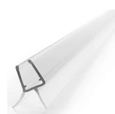 Premium Duschdichtung - 1x100cm Wasserabweisende Dichtlippe für Duschkabinen - Für 6mm und 7mm Glasdicke geeignet