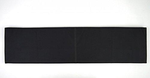 animal-design Wandkissen L Breite 115cm Kunstleder mit Montage-Set, Farbe:schwarz