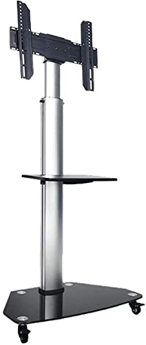 Soporte de TV Carrito de TV móvil para pantalla LED LCD de plasma de 32 65 pulgadas, pantalla horizontal y vertical que se puede girar, soporte de TV universal con bandeja de almacenamiento Ruedas de
