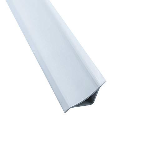 Abschlussleiste 2,5m Winkelleisten Bad Badewanne WC Gummilippe Wand PVC ALU 15mm PVC weiß