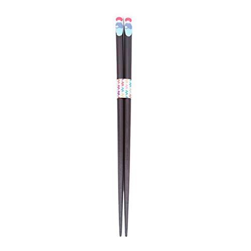 Yinew Japanische Essstäbchen Bambus Zarte und Bunte Essstäbchen Geschenk Asiatisches Besteck,Berg Fuji,Size