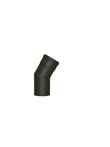 LANZZZAS Pellet pellet rookpijp pelletkachel pijp 30° boog eenmaal gebogen zonder reiniging Kleur grijs Ø 80 mm