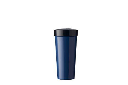 Mepal Nordic Denim beker Take A Break 400 ml, ABS/siliconen, 8 x 8 x 16,5 cm