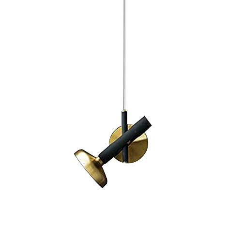 WEM Lámpara de araña decorativa novedosa, luces colgantes LED modernas, lámpara de techo con diseño de hierro, lámpara colgante de metal con pantalla geométrica, accesorios de iluminación de suspensi