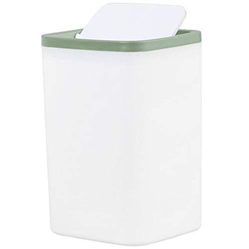 GLGLZBDPPJIUGE LQPJJZMDD Cubos de Basura de Reciclaje Cubo de la Basura de la Basura de la Basura pequeña Puede Mini Escritorio de sobremesa Papelera for Servicio de Alquiler de Bin (Color : Green)