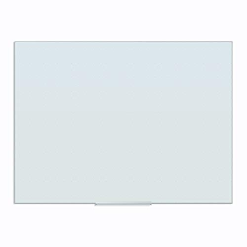 U Brands Floating Glass Ghost Grid Dry Erase Board, 23 x 47 Inches, White Frosted Non-Magnetic Surface, Frameless (2799U00-01)