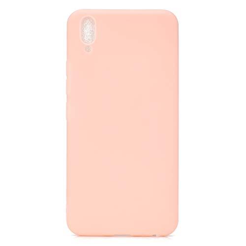 BSA Funda para Vivo V11 rosa TPU flexible suave ultra fina antiarañazos HD Case funda compatible Smartphone