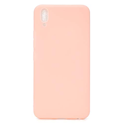 BSA Funda para Vivo V11 rosa TPU flexible suave ultra fina antiarañazos HD Case funda compatible Smartphone