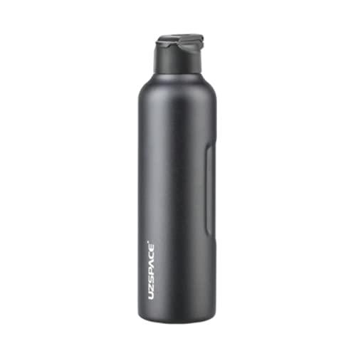 BB&YING Botellas aisladas al vacío de acero inoxidable con pajita, taza de café reutilizable de viaje, adecuado para el trabajo, viajes, deportes, fitness, negro, 950 mililitros