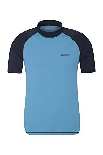 Mountain Warehouse UV-Badeshirt für Herren - Schwimmshirt mit UPF50+, schnelltrocknend, Flache Nähte UV Shirt - Ideal für Schwimmen und Tragen unter einem Schwimmanzug Dunkelblau S