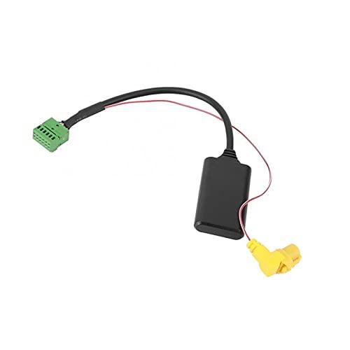 RJJX 5-12V 12 Pin FIT para MMI 3G AMI AUX Bluetooth Adaptador AUX AUX Inalámbrico Ajuste de Audio Audi Q5 A6L A4L Q7 A5 S5