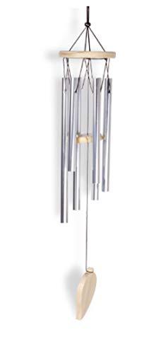 YANHUIGANG windspiele im freien Einfache Massivholz Aluminiumrohr Metalldekoration Urlaub Kreativität-Kleine sechsfarbige Holzröhre
