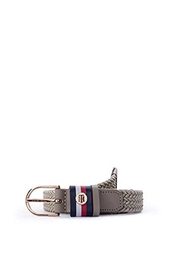 Tommy Hilfiger - Cinturón de mujer trenzado metálico. beige 85 cm