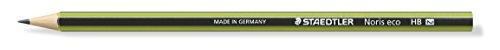 Staedtler 180 30-HB Bleistift Wopex Noris Eco - HB ohne Radierer, grün-schwarz